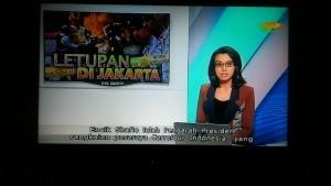 Peristiwa Bom di Jakarta ramai di beritakan Televisi di Singapura (foto : istimewa)