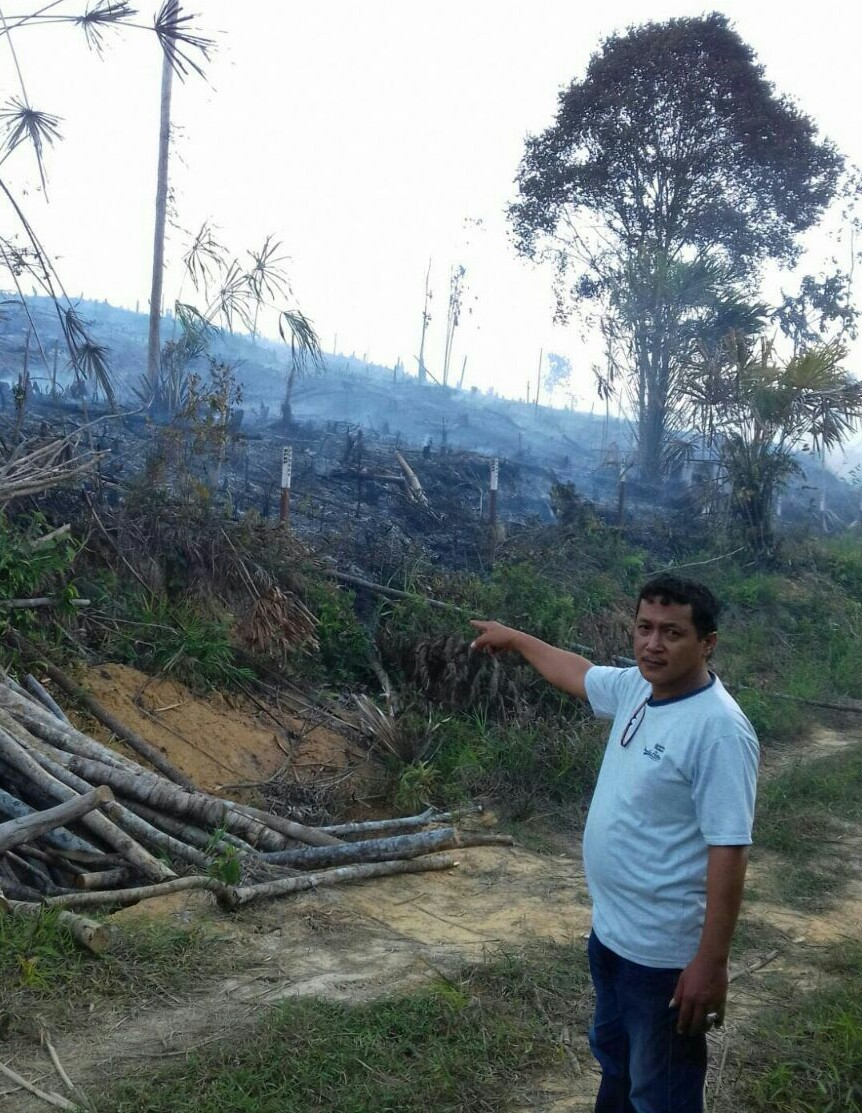Lahan yang terbakar di kawasan Km 13,  Kelurahan Karang Joang, Balikpapan Utara