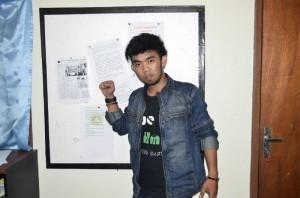 Sekretaris HMI Balikpapan, Agus Sudirman. (foto: syfa)